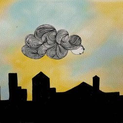 One Dark Cloud - Ink and Color