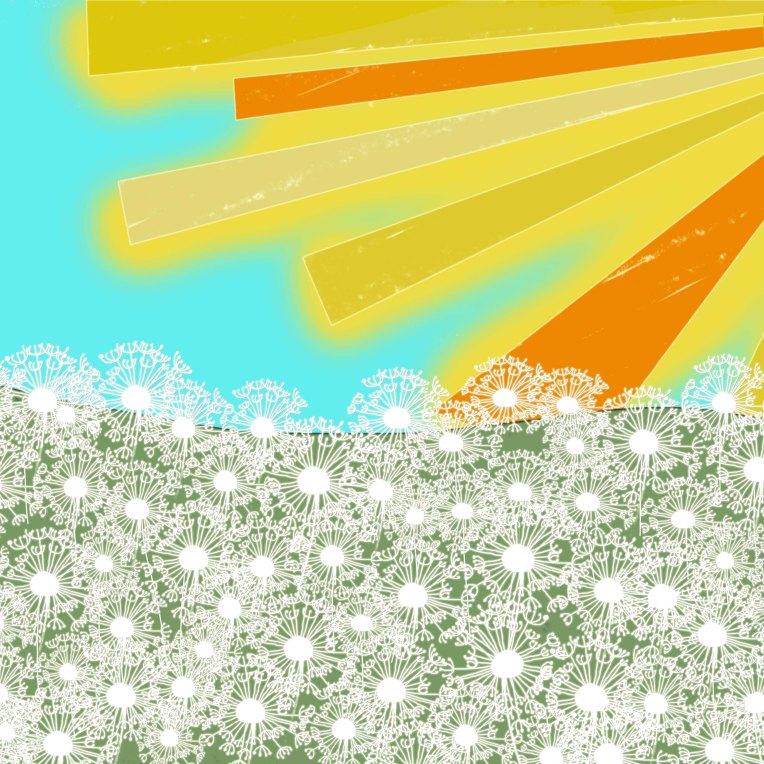 Snowy Summer - Digital Collage